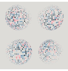 Collection of halftone sphere logo template vector image vector image