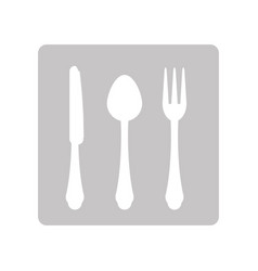 Cutlery for food vector