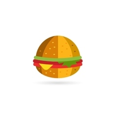 Fast food hamburger logo icon city restaurant vector