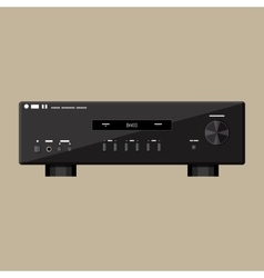 Home modern stereo sound amplifier in black vector