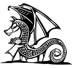 Huggy Dragon vector image vector image