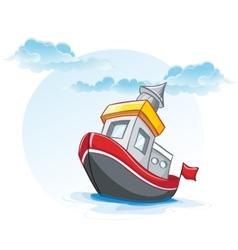 little cartoon of a ship vector image
