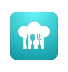 modern restaurant app icon on white vector image