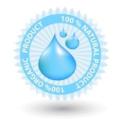 natural blue label vector image