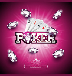 on a casino theme with color playing chips poker vector image vector image