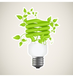power saving green vector image vector image