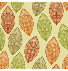 seamless pattern autumn highly detailed vector image