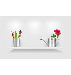 Shelf design vector image