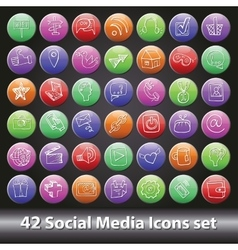 Social Media Icons setRound volume button vector image
