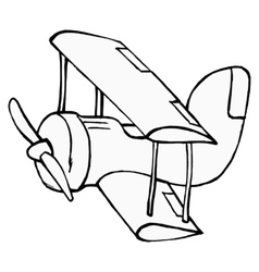 toy airplane vector image vector image