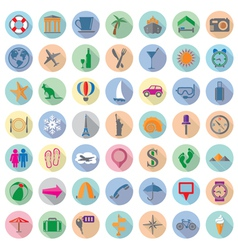 Travel flat icons vector