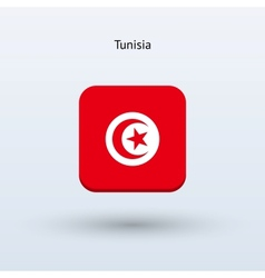 Tunisia flag icon vector