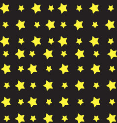 Yellow star pattern vector image vector image