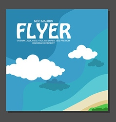 Flyer in flat style with a map of the island to vector