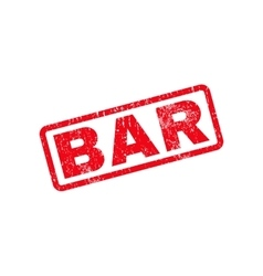Bar text rubber stamp vector