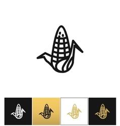 Corn cob nutritious maize icon vector