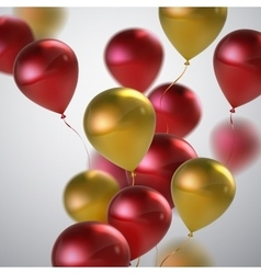 Red and golden balloon bunch vector