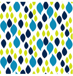 Abstract blue and green drop petals pattern vector