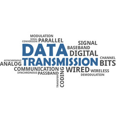 Word cloud - data transmission vector