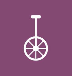 unicycle one wheel bicycle cartoon flat style vector image