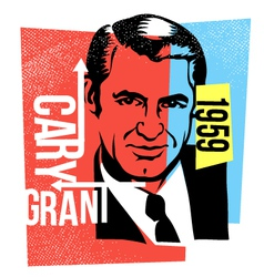 Actor cary grant vector