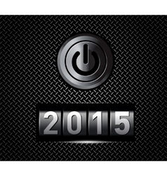 New Year counter 2015 with power button vector image