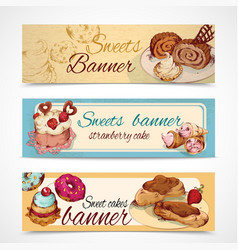 Sweets colored banners vector