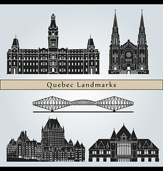 Quebec landmarks and monuments vector