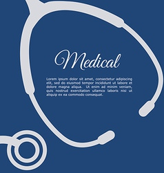 Stethoscope design vector
