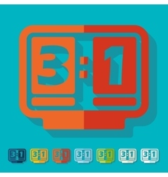 Flat design score board vector