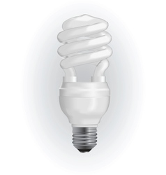 energy saving light bulb vector image