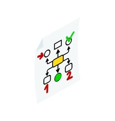 Business planning icon isometric 3d style vector