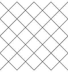 Black grid white diamond background vector