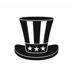 American hat icon simple style vector image
