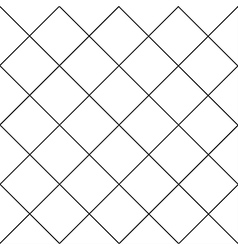 Black Grid White Diamond Background vector image