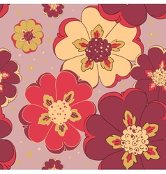 Bright flower seamless pattern vector image