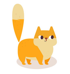 cute ginger cartoon cat isolated on white vector image vector image