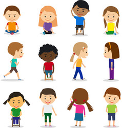 Cute kids characters vector