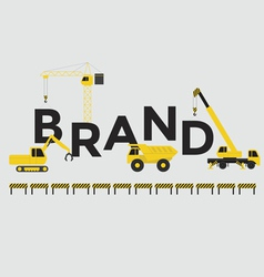 Engineering building text Brand vector image vector image