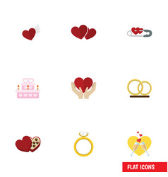 Flat icon amour set of wings shaped box save vector