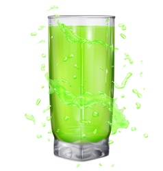 Glass with water splashes vector image