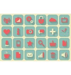 Icons set retro vector