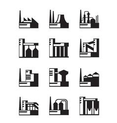 Industrial construction set vector
