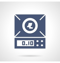 Laboratory scales glyph style icon vector image
