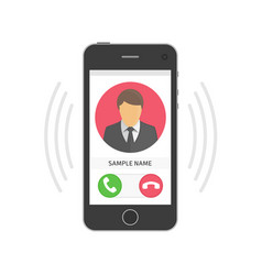 mobile phone ringing vector image vector image