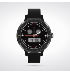 Modern and fashionable watch vector image vector image