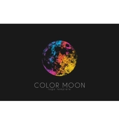 Moon logo design Color moon Cosmic logo Space vector image vector image
