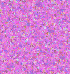 Pink irregular triangle mosaic background design vector image vector image