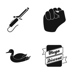 plait fist and other web icon in black style vector image
