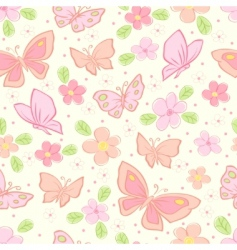 seamless vector background with butterfly vector image vector image